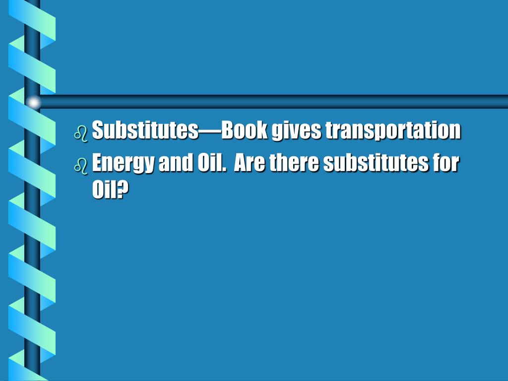 Substitutes—Book gives transportation