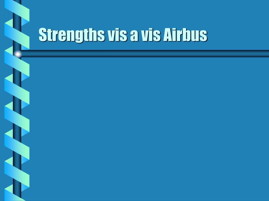 Strengths vis a vis Airbus