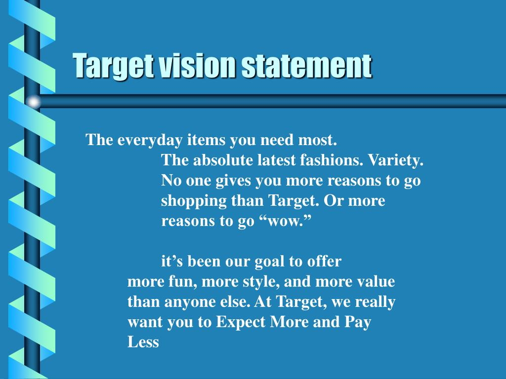 Target vision statement