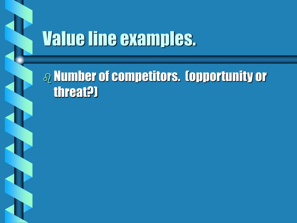Value line examples.