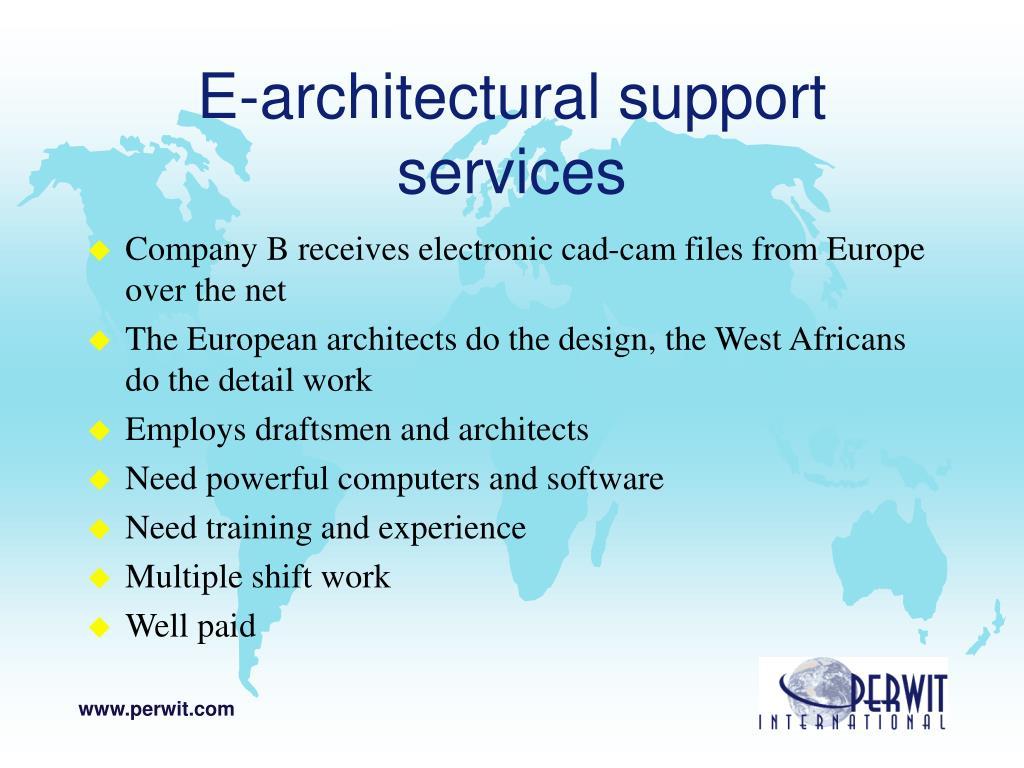 E-architectural support services