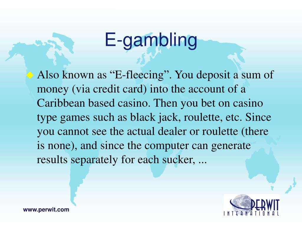 E-gambling