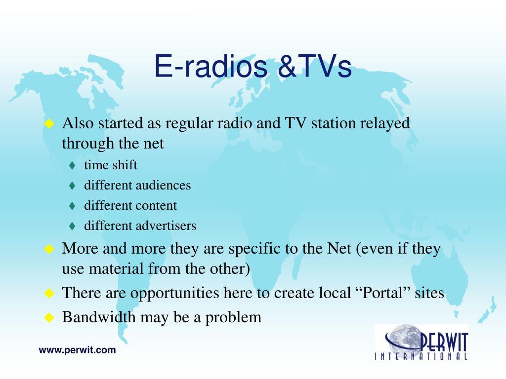 E-radios &TVs