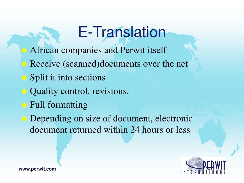 E-Translation