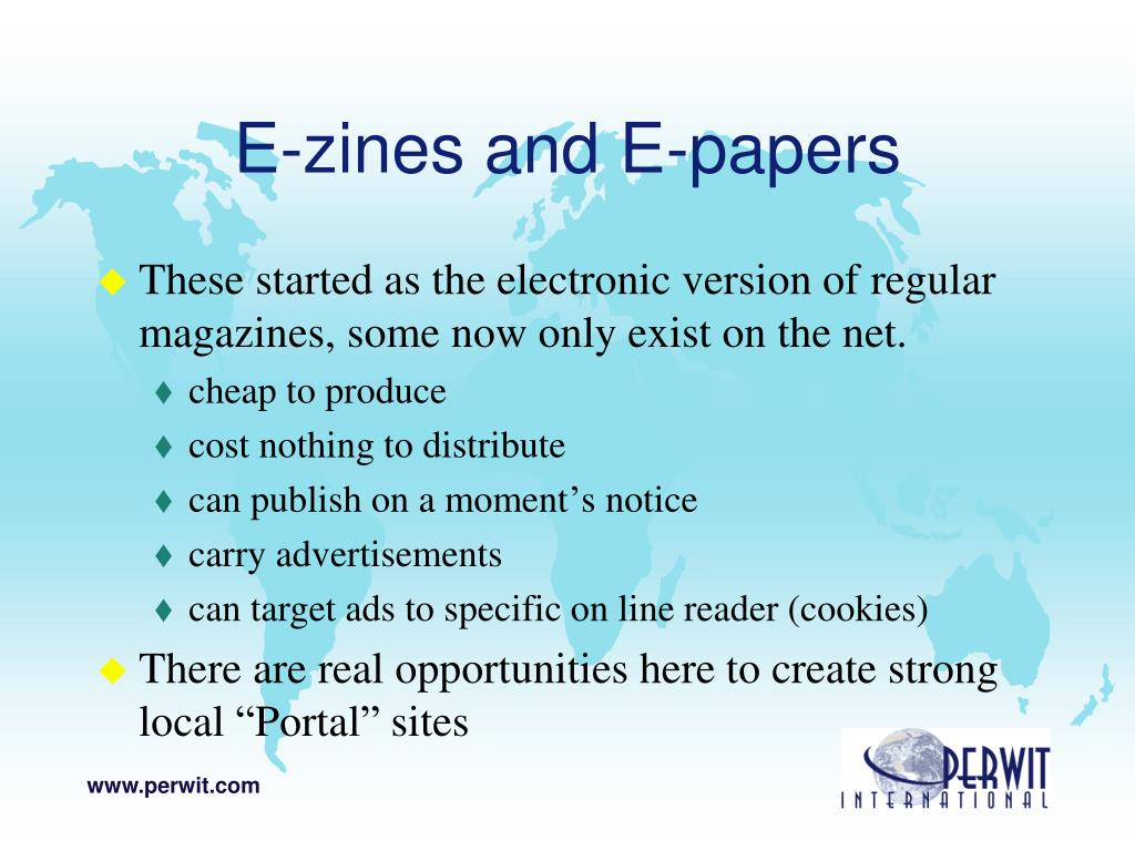 E-zines and E-papers