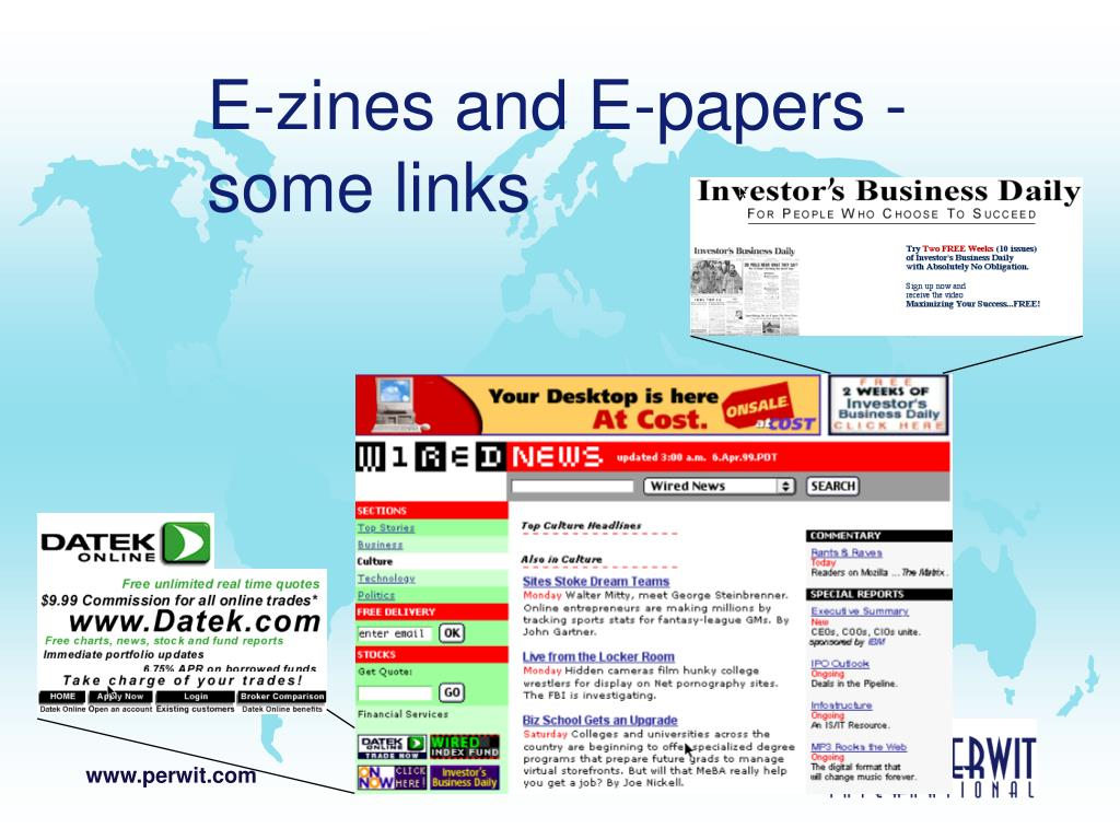 E-zines and E-papers -