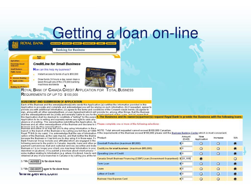 Getting a loan on-line