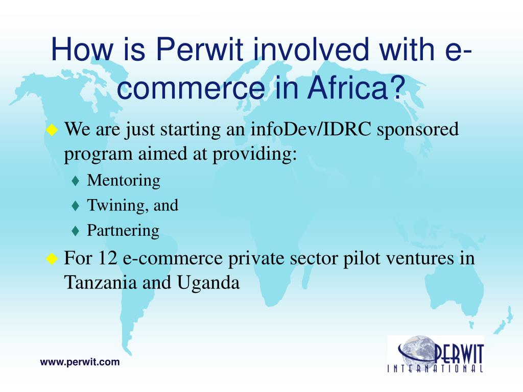 How is Perwit involved with e-commerce in Africa?