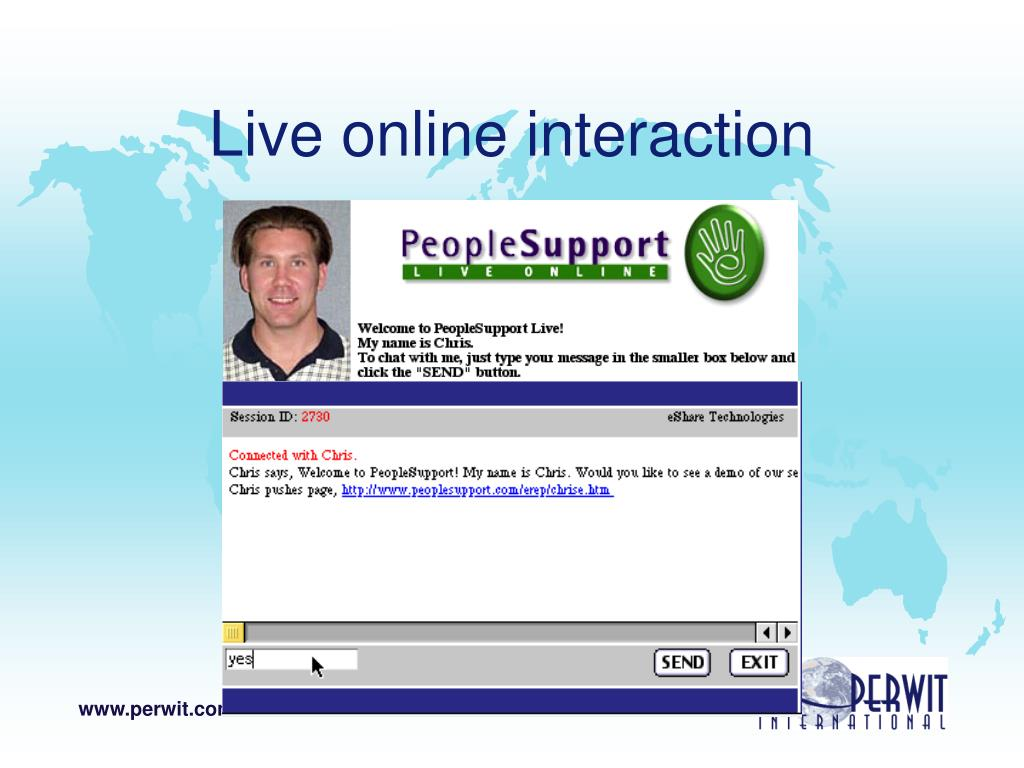 Live online interaction