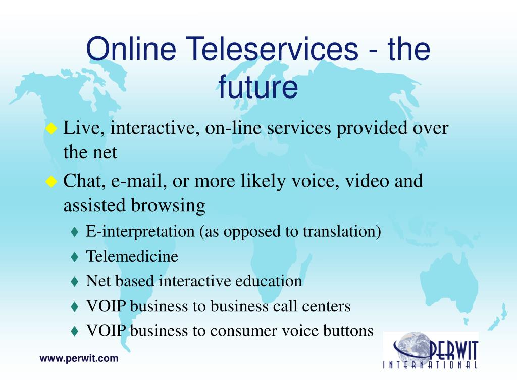 Online Teleservices - the future