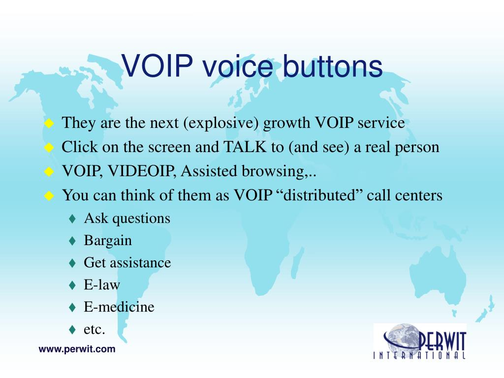 VOIP voice buttons