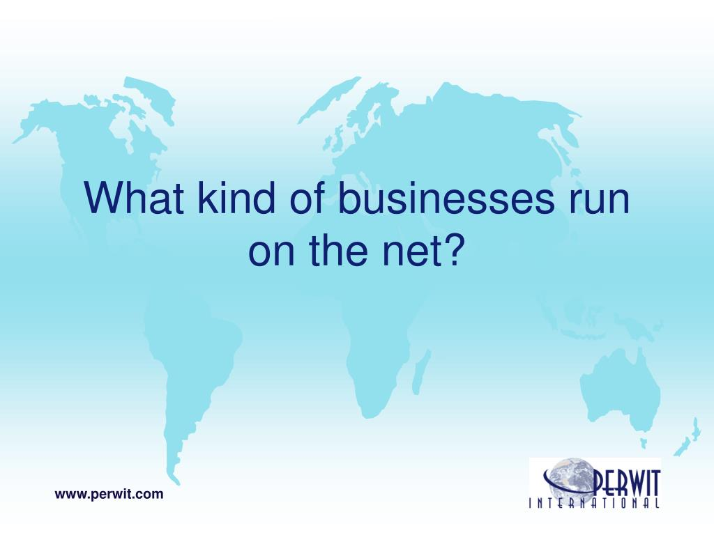 What kind of businesses run on the net?