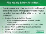 five goals key activities1
