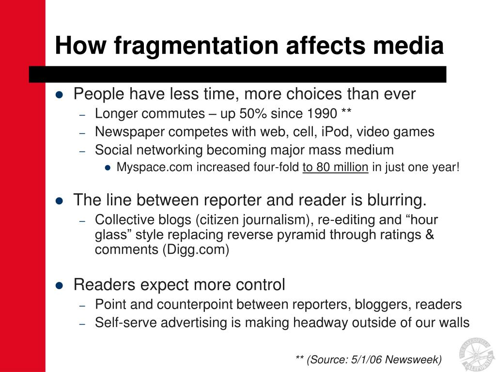 How fragmentation affects media