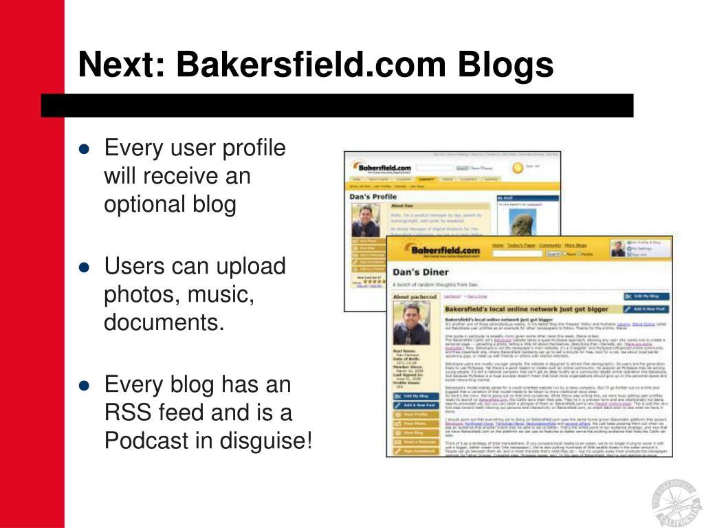 Next: Bakersfield.com Blogs