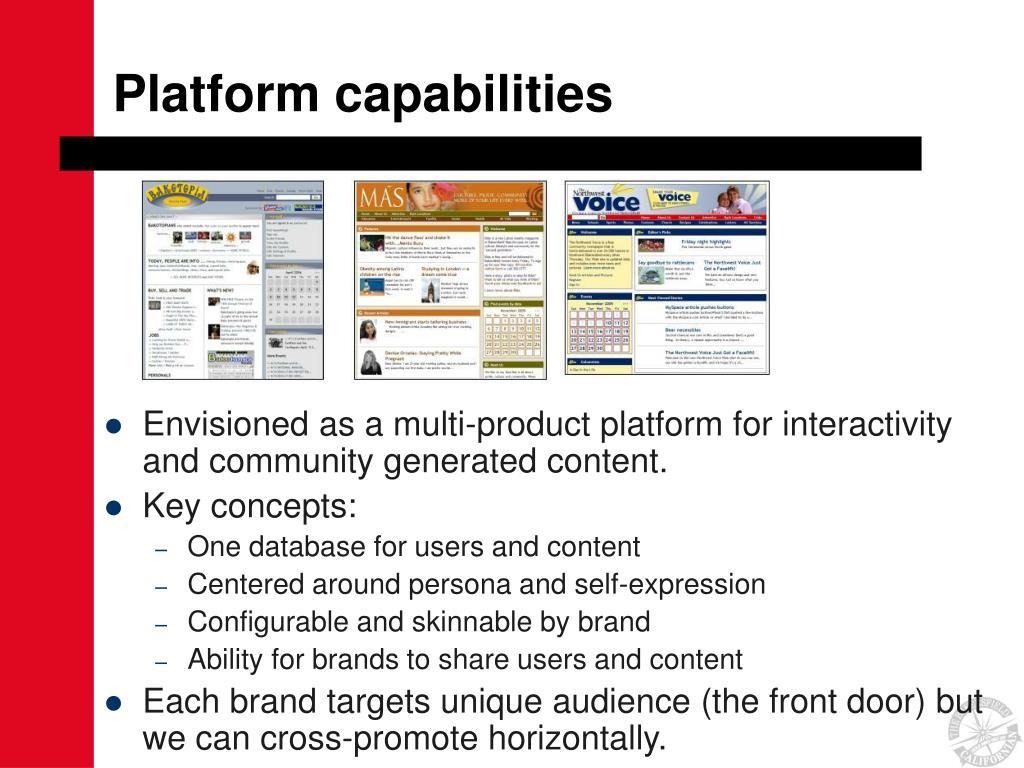 Platform capabilities