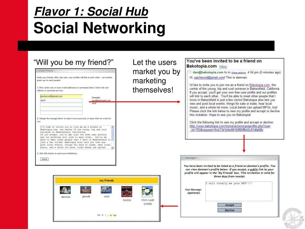 Flavor 1: Social Hub