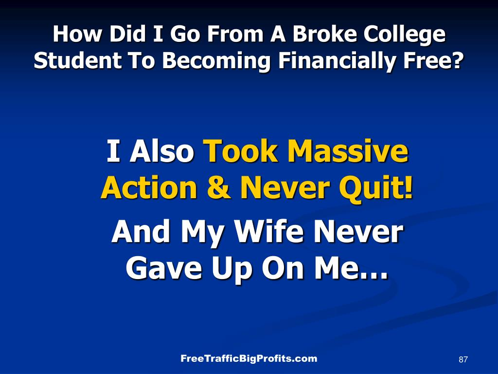 How Did I Go From A Broke College Student To Becoming Financially Free?