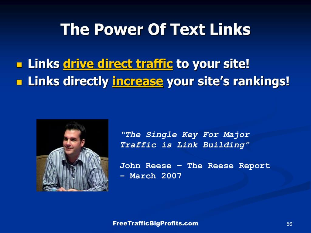 The Power Of Text Links