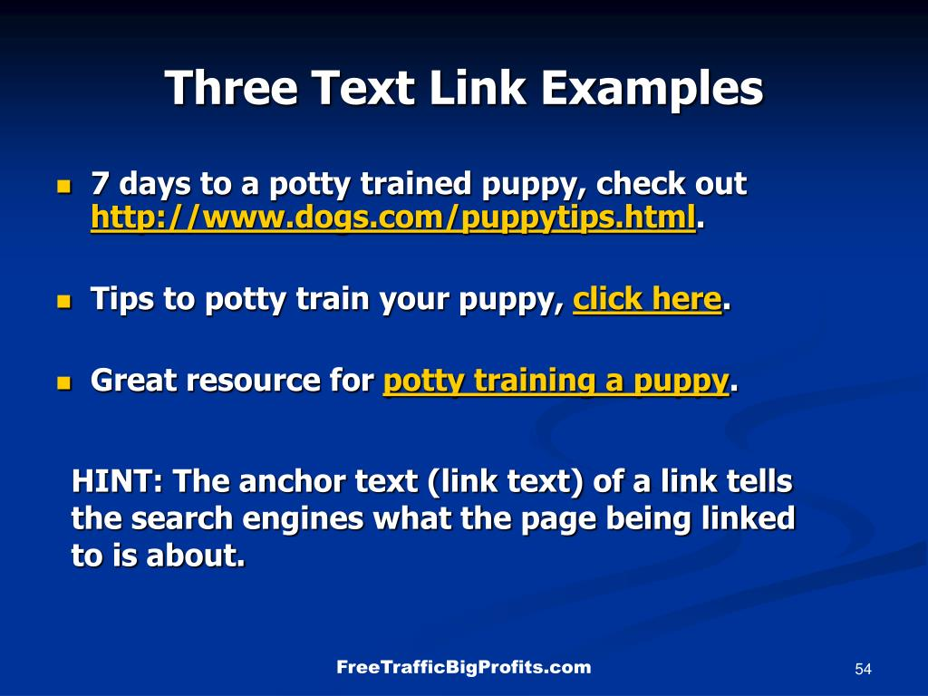 Three Text Link Examples