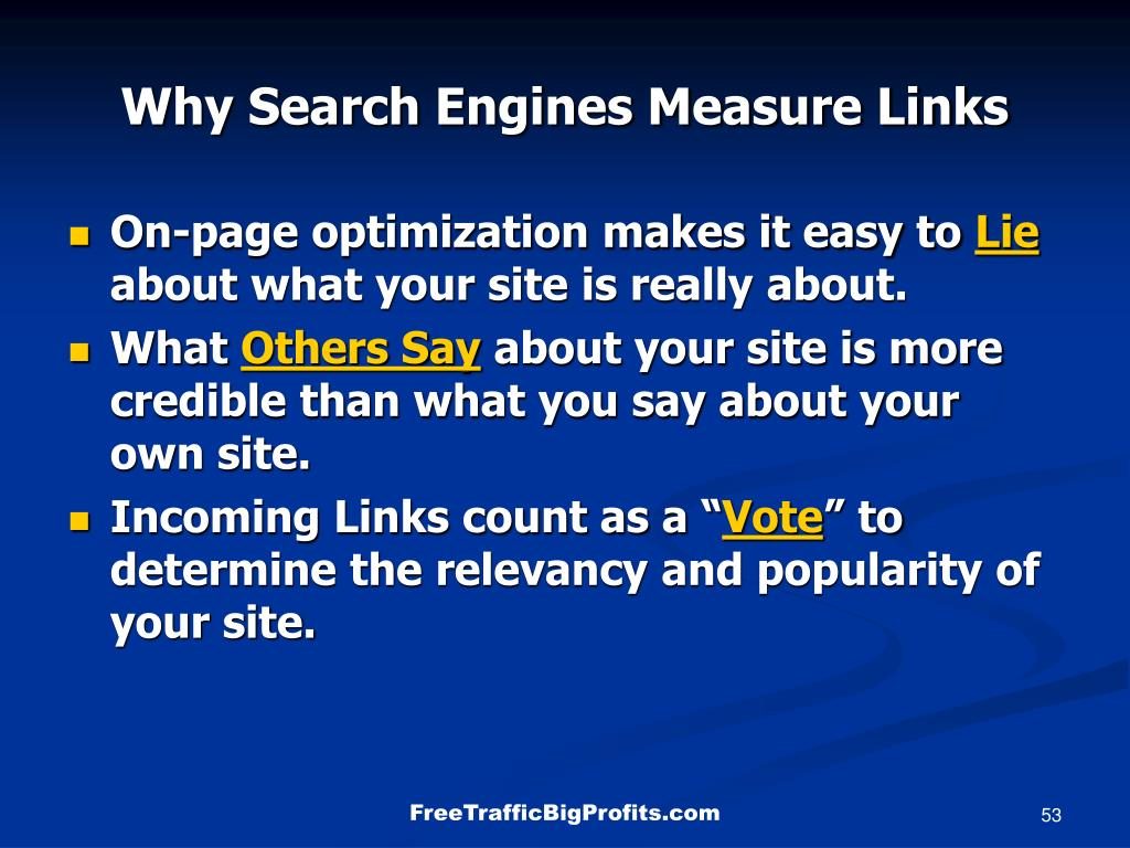 Why Search Engines Measure Links