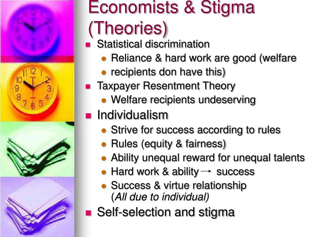 Economists & Stigma (Theories)