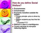 how do you define social welfare