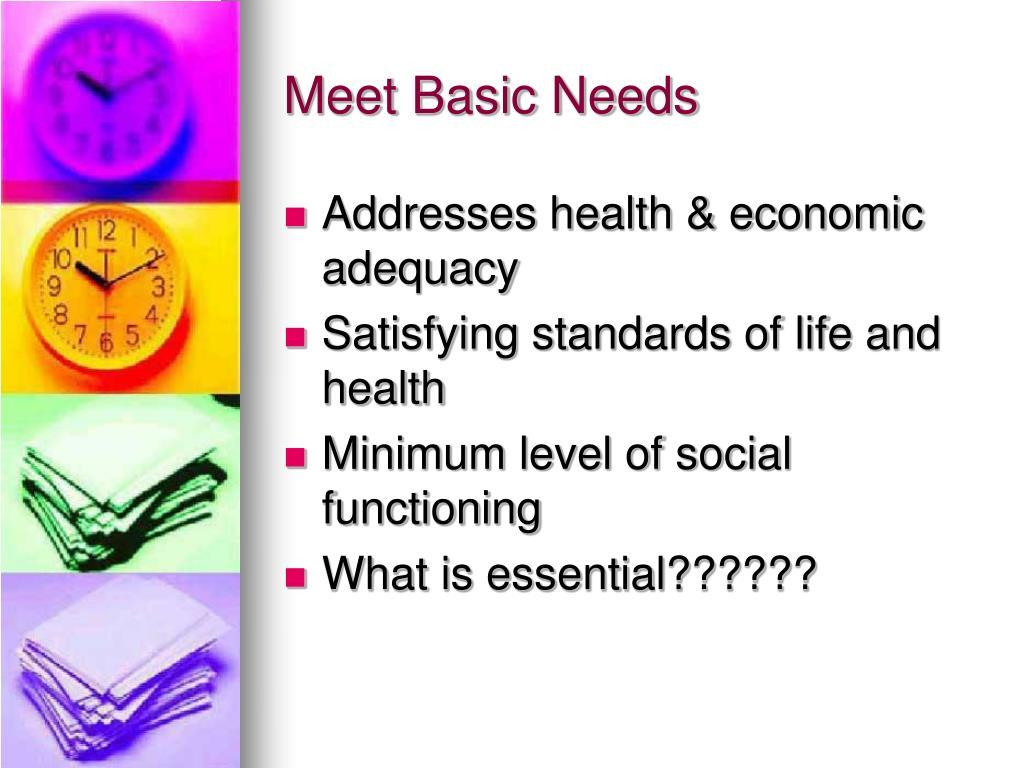 Meet Basic Needs