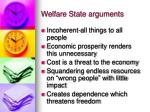 welfare state arguments