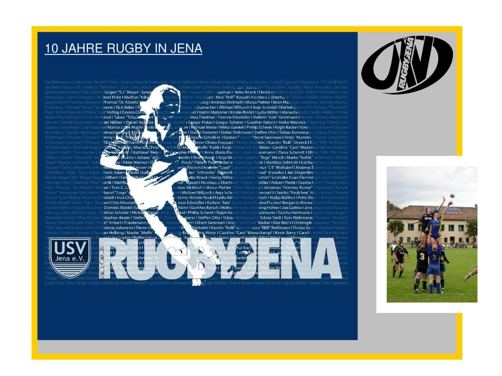 10 JAHRE RUGBY IN JENA