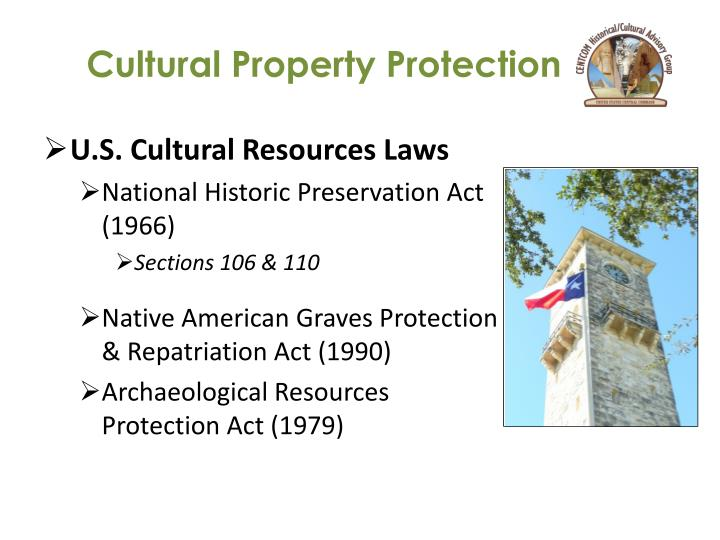 Cultural property protection