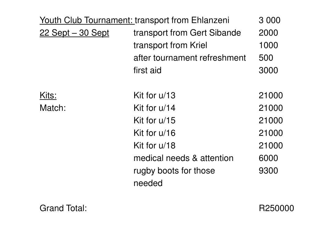 Youth Club Tournament: