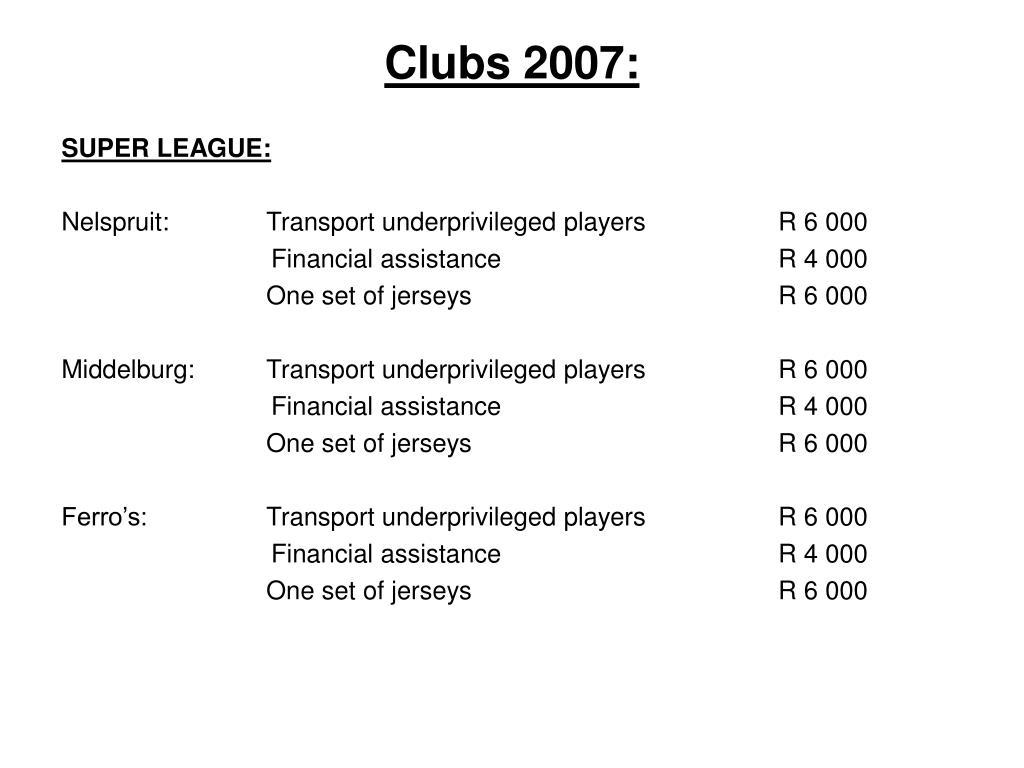 Clubs 2007: