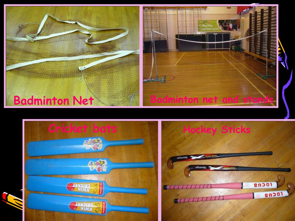 Badminton net and stands