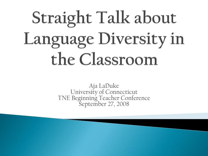 addressing cultural diversity in the classroom Classroom while addressing the academic needs of both the host and  international students through  increase in cultural diversity in the classroom,  new.