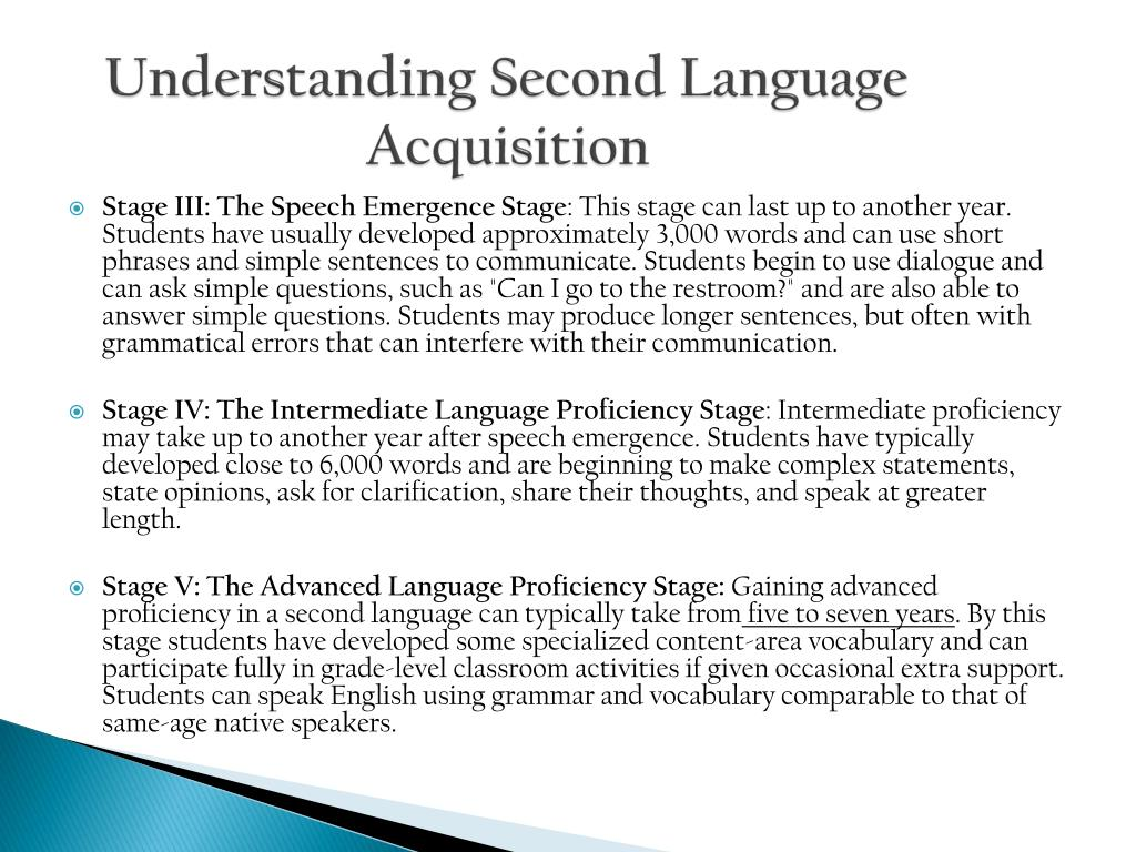 the importance of language acquisition essay Language development in children is amazing and helps her learn that words are distinct parts of language these are important concepts for.
