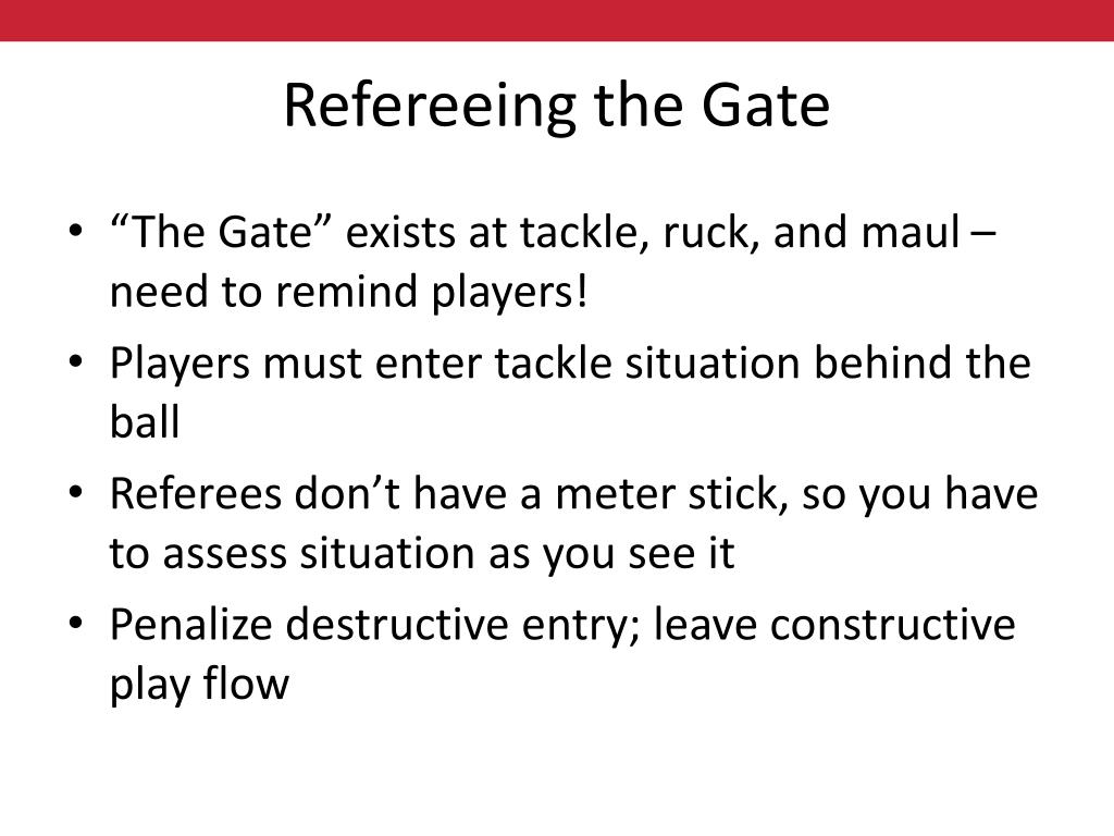 Refereeing the Gate