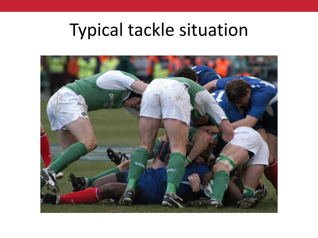 Typical tackle situation