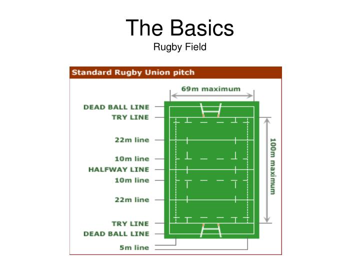 The basics rugby field