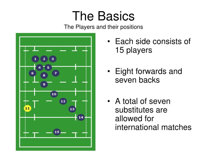 The basics the players and their positions