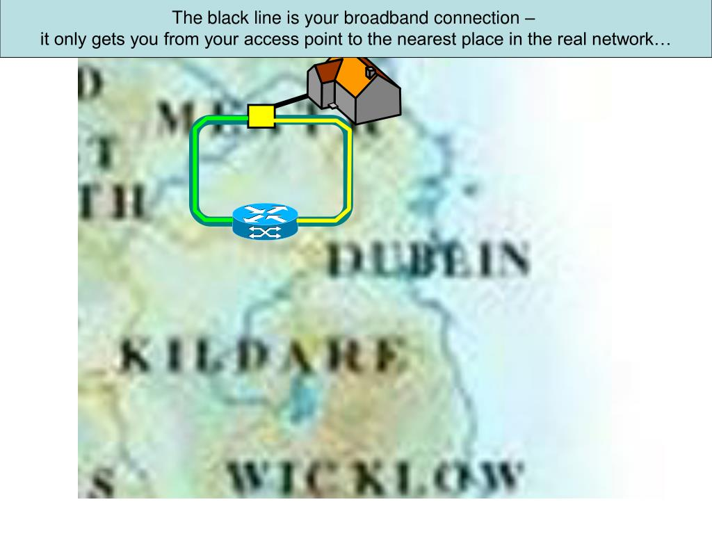 The black line is your broadband connection –