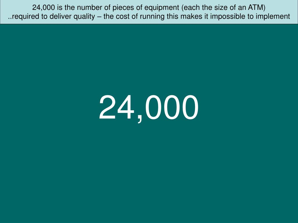 24,000 is the number of pieces of equipment (each the size of an ATM)