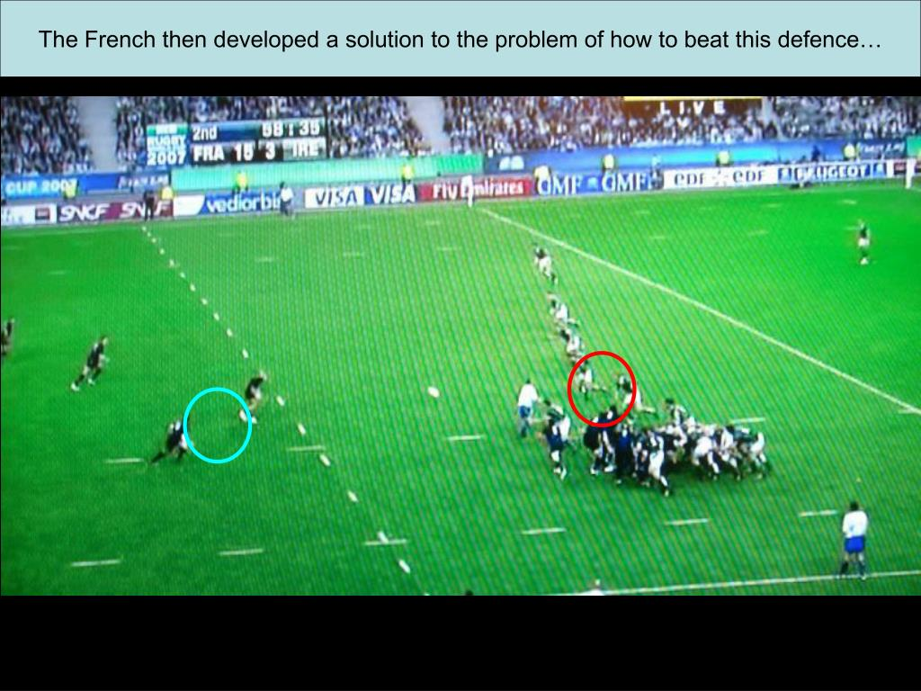 The French then developed a solution to the problem of how to beat this defence…