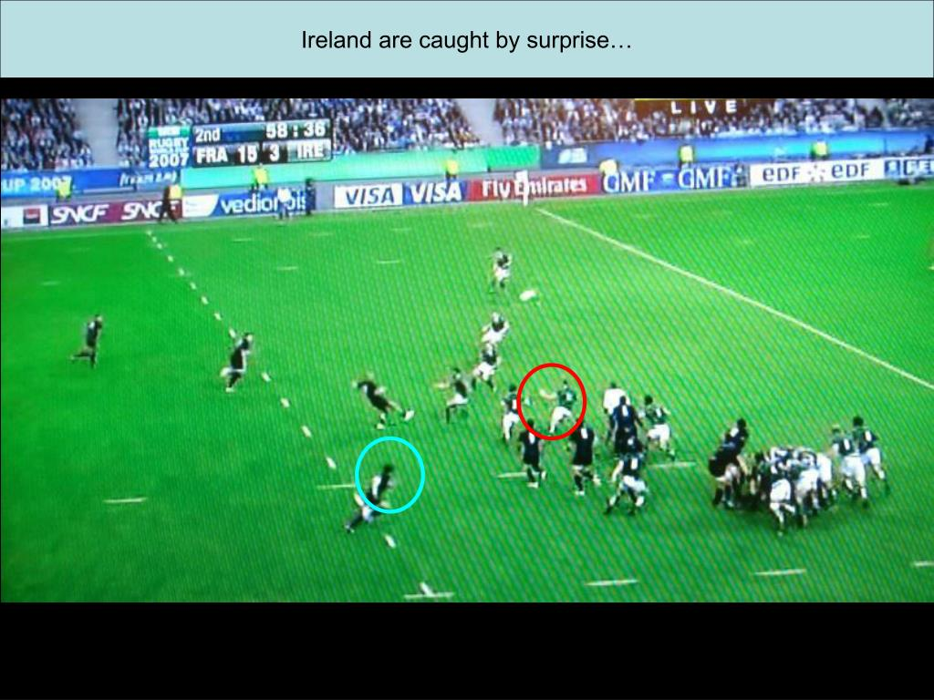 Ireland are caught by surprise…