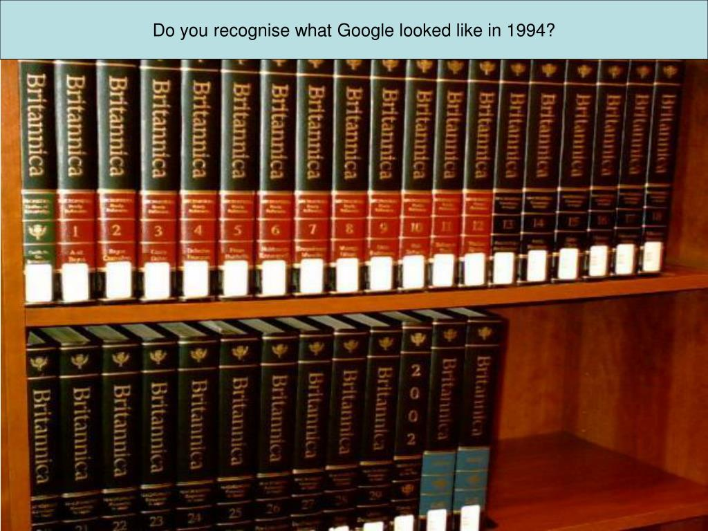 Do you recognise what Google looked like in 1994?
