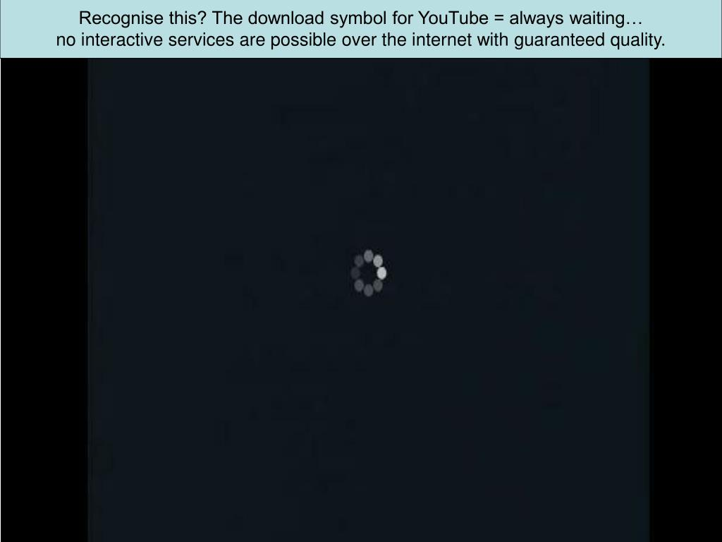 Recognise this? The download symbol for YouTube = always waiting…