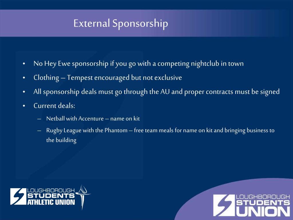External Sponsorship