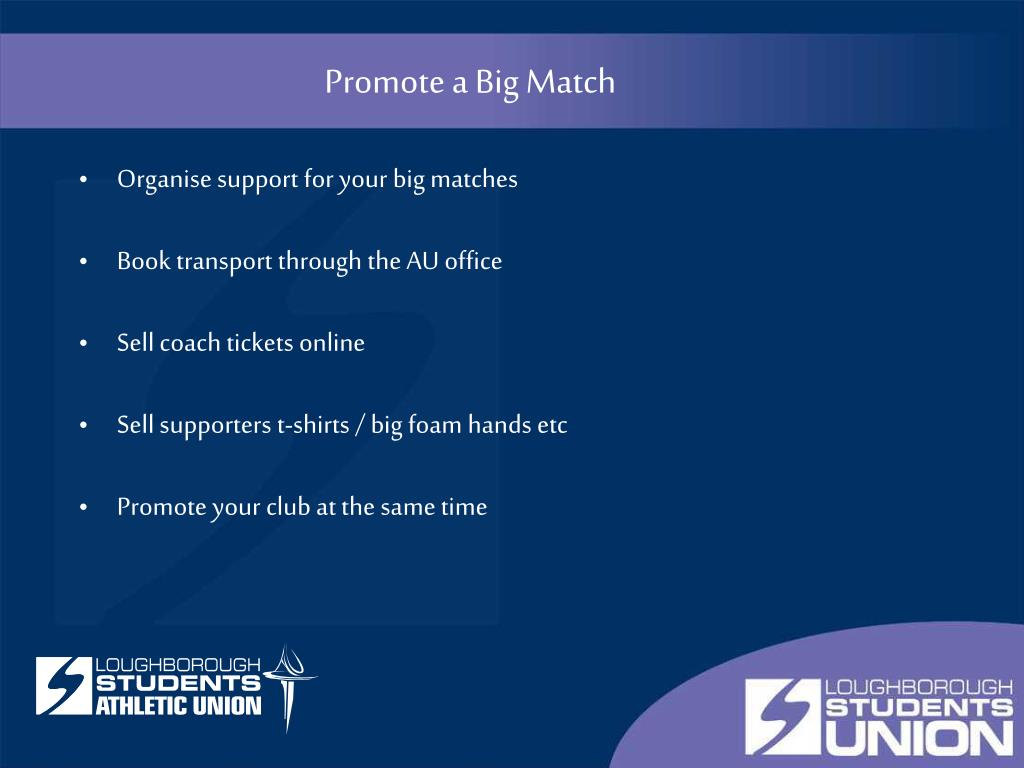 Promote a Big Match