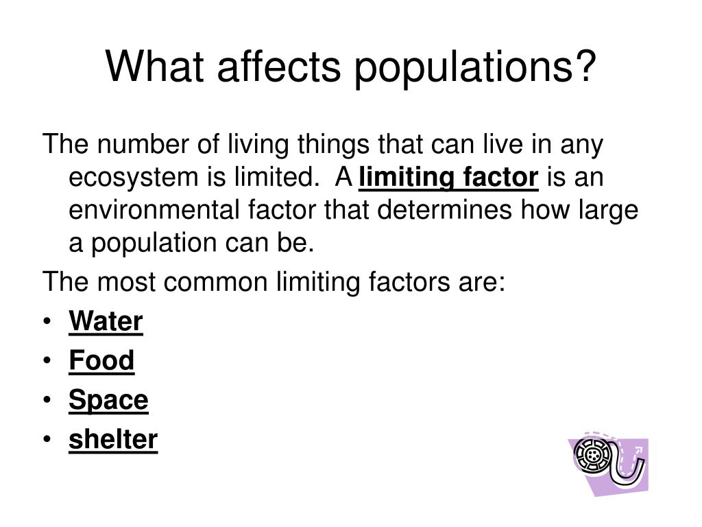 what factors affect the populations in an ecosystem