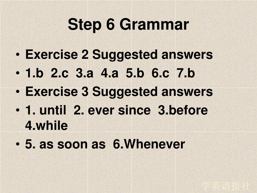 Step 6 Grammar